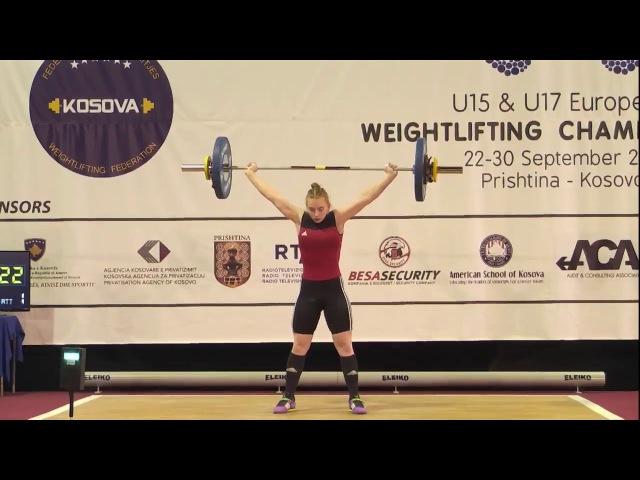 Women U17 63kg 2017 EUROPEAN WEIGHTLIFTING CHAMPIONSHIPS U15 U17