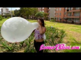 Taylor Desmond Blows a Big Long Neck Balloon!!