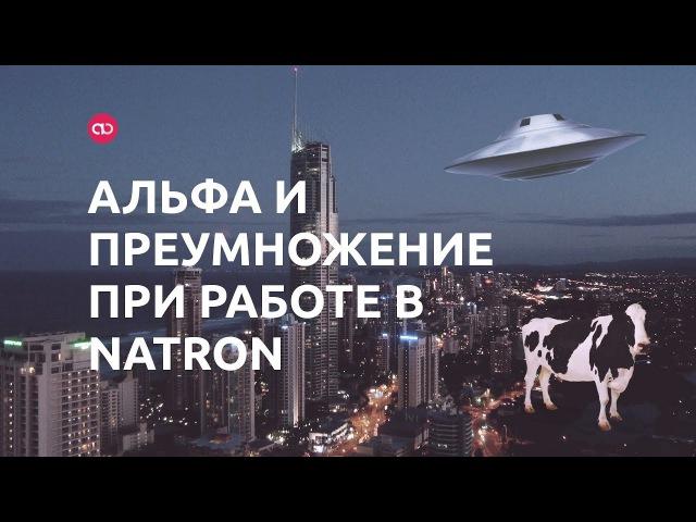 Альфа и преумножение при работе в Natron