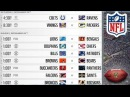 NFL Week 16 Schedule (December 24, 2017) #NFL