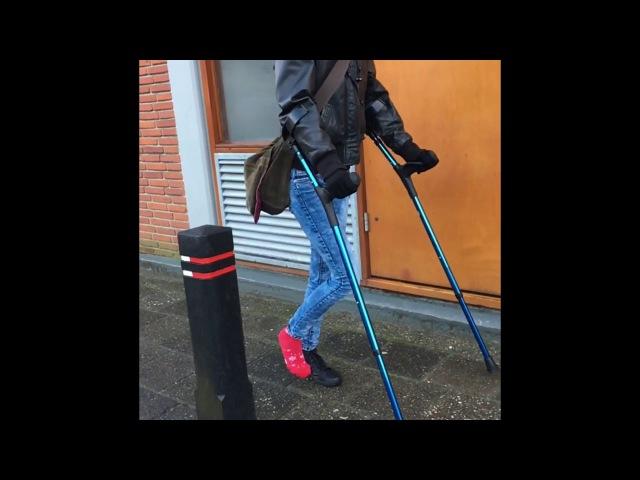 Crutches and sock