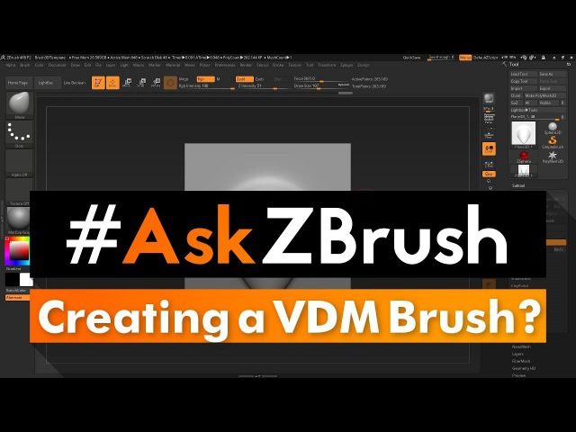 """AskZBrush: """"What is the best way to create a new VDM Brush?"""""""