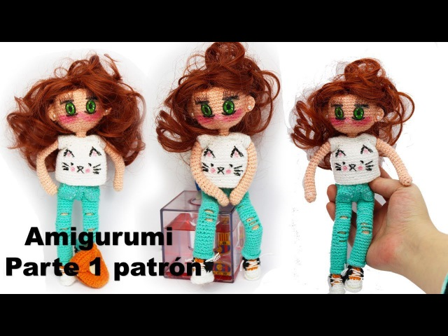 Amigurumi, muñeca moderna adolescente (parte 1/4)