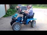Самодельный трактор на основе мотоблока