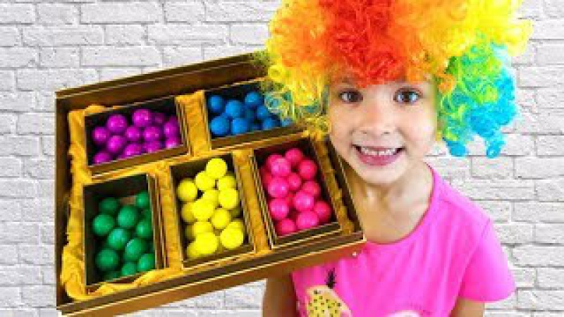 Cute Baby eating Colored Candy Learning Colors Baby Rhymes Family friendly Songs for Children