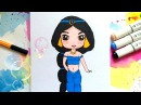 Как нарисовать ЖАСМИН с мультфильма Алладин ♥ How to Draw Disney Princess Jasmine from Aladdin Cute