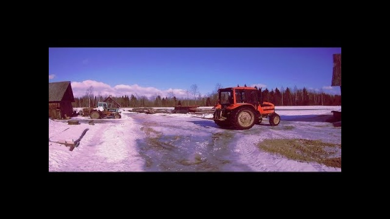 Work with Belarus 920.3[Moving silage bales][Farmer_Ren video]