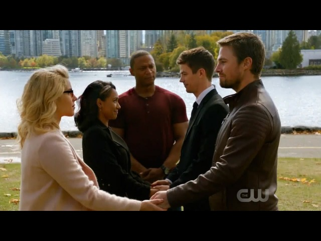 DC's Legends of Tomorrow 3x08 Ending: Crisis on Earth-X Part 4 - Westallen and Olicity wedding
