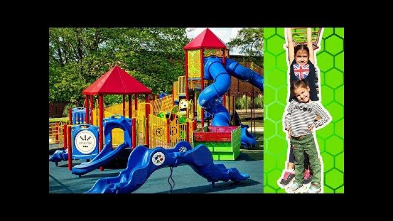 Американская детская площадкаVLOG ДЛЯ ДЕВОЧЕК.Playground in California.