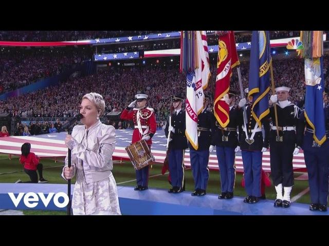 P!nk - Super Bowl LII National Anthem performance
