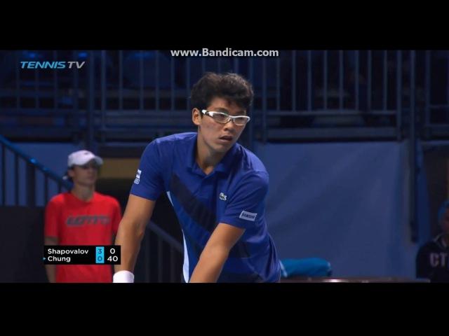 Denis Shapovalov vs Hyeon Chung - Next gen ATP Finals MILAN 2017 RR Highlights HD