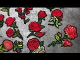 Йод DIY красный цветок гладить на Нашивки для одежды декоративные розы аппликация Вышивка патч Костюмы Наклейки Свадебные Для же