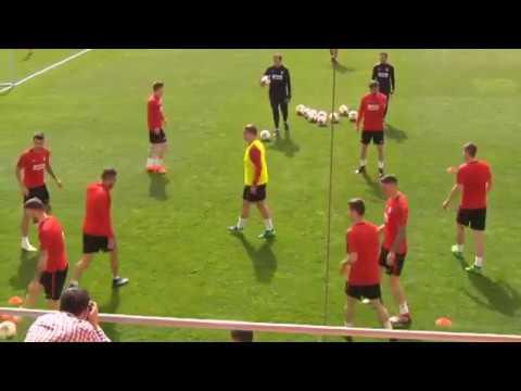 El Atlético comienza a preparar el duelo ante el Arsenal