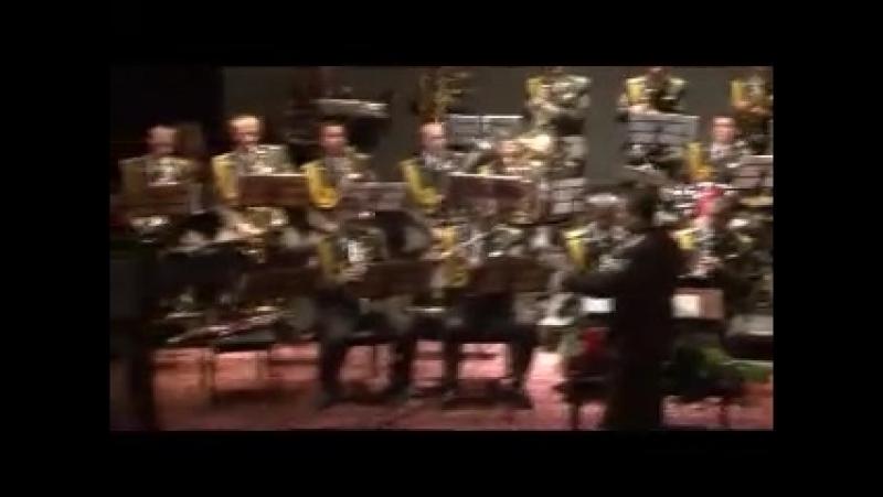Образцово-показательный оркестр Пограничных войск Республики Узбекистан,Тико-Тико - аккордеон Крайнова О.