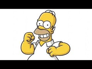 The Simpsons: Mona Simpson gets Arrested. Гомер бежит за машиной!