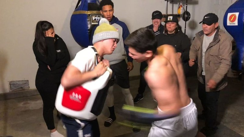"Ryan Garcia on Instagram: ""During training camp for this fight 👊🏼 I guess Sean decided he wanted round two 😂 It didn't end well for little bro can'..."