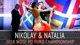 Nikolay Darin &amp Natalia Seredina Медленный вальс 2018 WDSF PD Чемпионат Европы - Полуфинал