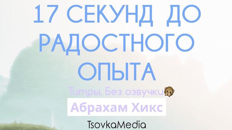 17 секунд для радостного опыта ~ Абрахам (Эстер) Хикс | TsovkaMedia