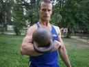 Упражнения с гирей. Подброс - вертушка на попа .Гиря 24 кг. и 2 Пуда(32,6 кг.)