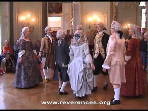 Révérences et Montferine : spectacle danses XVIII° siècle à l'hôtel de soubise (Paris-2006)