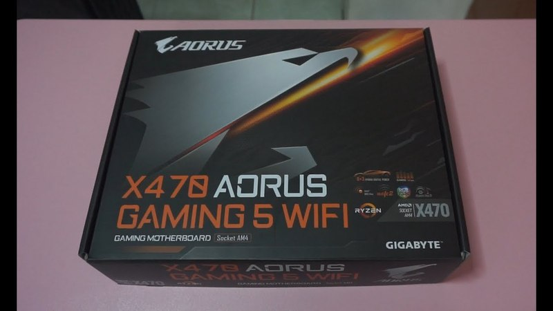 Gigabyte X470 Aorus Gaming 5 WiFi Ryzen 2nd Gen AM4 motherboard