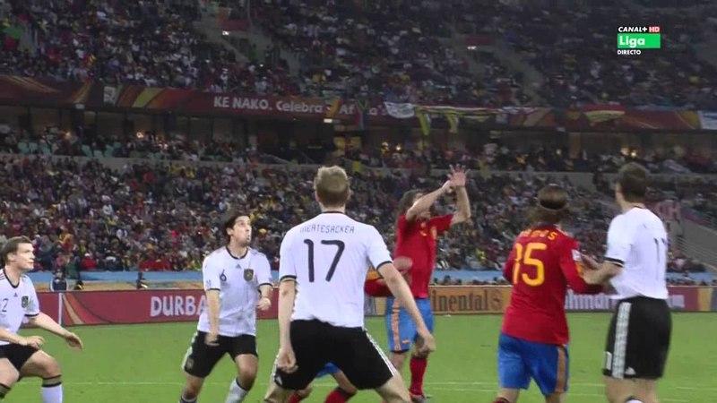 Gol de Carles Puyol-España vs Alemania