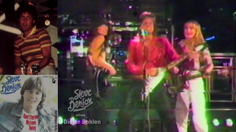 "His very first music video [2⁄2]: ""Steve Benson"" alias Dieter Bohlen - Dont throw my love away (1981)"
