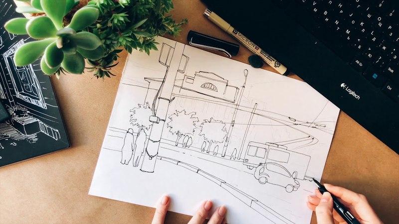 TULA SKETCH - drawing timelapse. перо LAMY RUSSIA