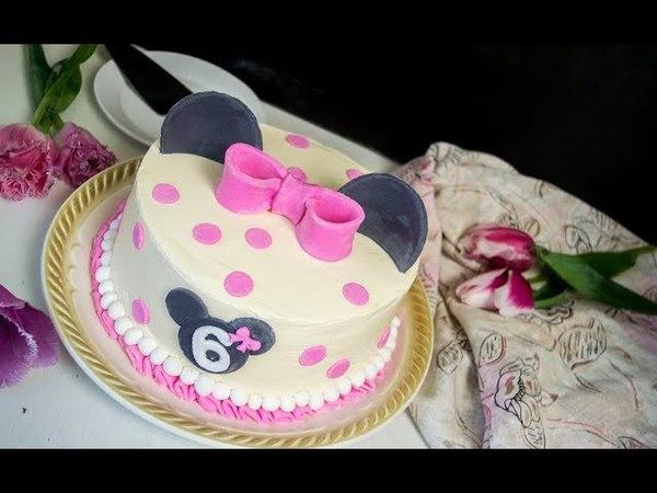 Торт Молочная девочка шоколадный вариант Декор торта Микки Маус