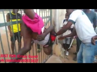 Rapist from guinea bissau lynching  caught savage africa embarrassing член хуй голый naked nude cock penis public