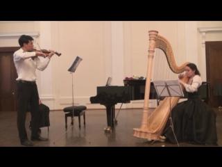 К. Сен-Санс. «Фантазия для скрипки и арфы». Исп.: Ильшат Муслимов, Гульназ Абдуллина
