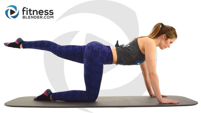 FitnessBlender - Pilates Workout for Lower Body | Низкоударная тренировка для бедер и ягодиц