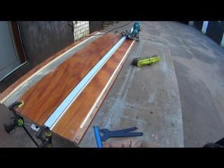 Как ровно фрезеровать ручным фрезером длинные пазы по направляющей шине