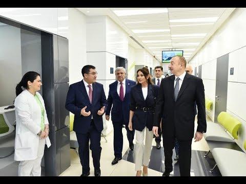 Prezident İlham Əliyev və birinci xanım Mehriban Əliyeva Bona Dea Beynəlxalq Hospitalının açılışında