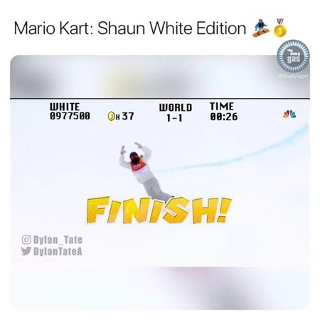 """TransWorld SNOWboarding Mag on Instagram: """"🎮 Who's down to play some Mario Kart: @shaunwhite edition? ⭐️ 🎬: @dylan_tate twsnow snowboarding"""""""
