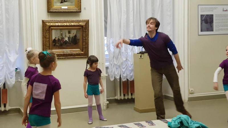 4.10.17. Уроки в галерее. Хореография - 3. Начали учить танец фрейлин.