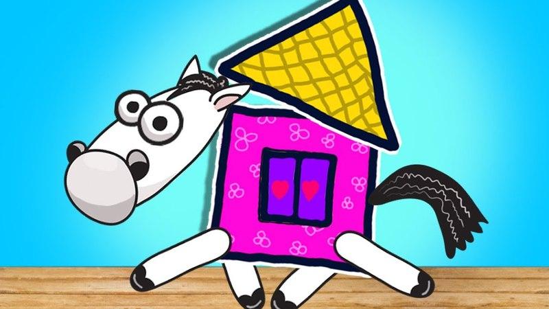 Дети играют в кубики. Children's Fantasy | Moo Noo cartoons