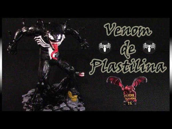 Como Hacer a Venom de Plastilina/ How to Make Venom with Clay/ Plasticine