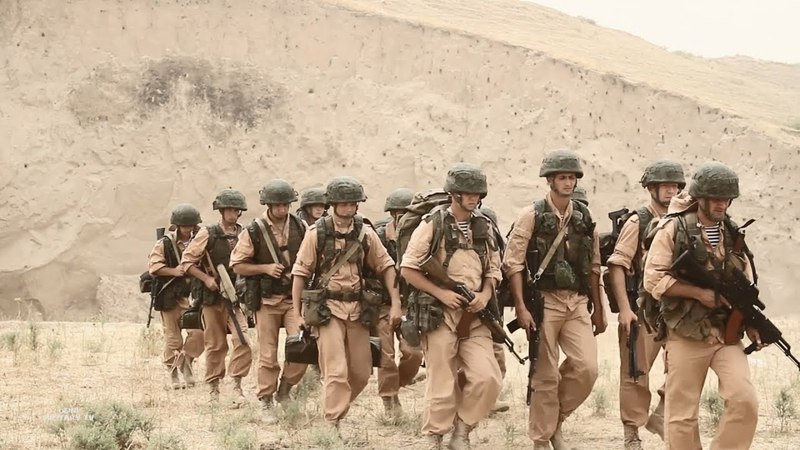 Горная подготовка разведподразделений 201 военной базы