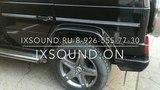 Звук активной выхлопной системы iXsound на Mercedes G-klasse (Gelandewagen).