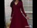 платье Миддлтон винный цвет