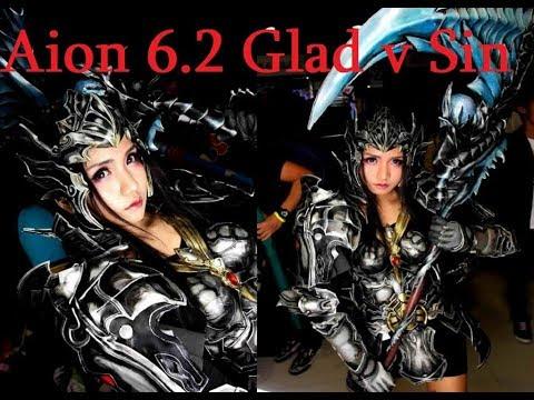 Aion 6.2 KR Gladiator 80 lvl vs GunnerAssassin AOD PVP 아이온 6.2 검투사 PVP