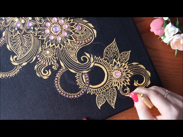 DIY Henna mehendi Art by Valerie point step by step