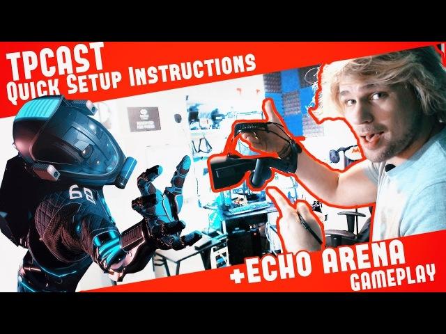 ✔ TPCast HMD Install Instructions Echo Arena lvl 50 Gameplay