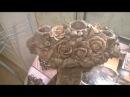 древнегреческий канделябр Виноград и розы своими руками