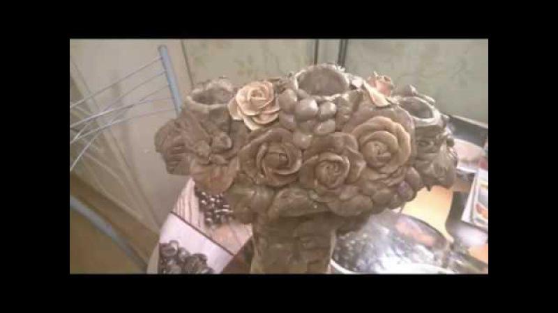 древнегреческий канделябр Виноград и розысвоими руками