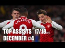TOP ASSISTs of the Week December 4 17/18 - David Neres, Sergio Aguero