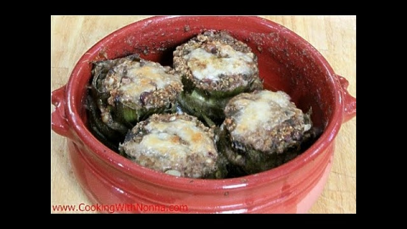 Sicilian Stuffed Artichokes - Rossella's Cooking with Nonna