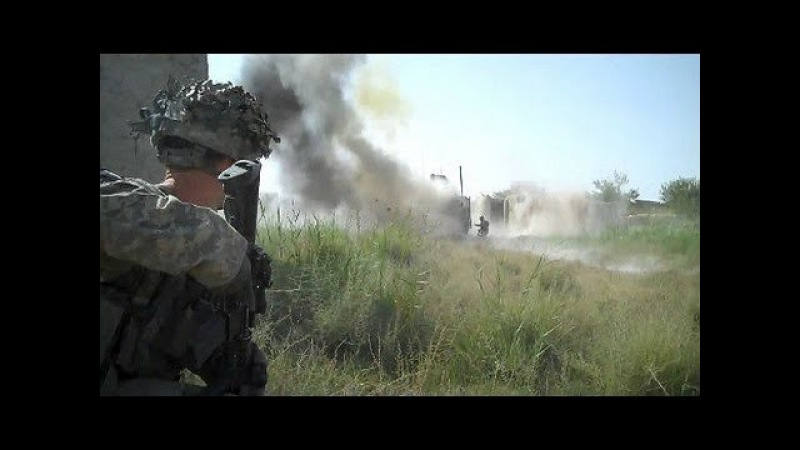 U.S Airborne Truck Survives Taliban RPG Hit During Ambush In Shari - Afghanistan War