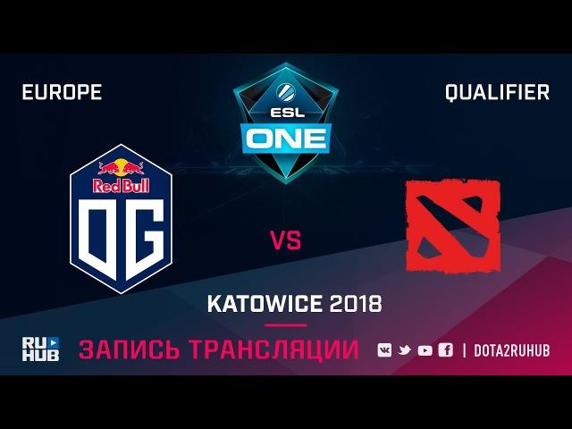 OG vs Team World ESL One Katowice EU game 2 Adekvat Smile